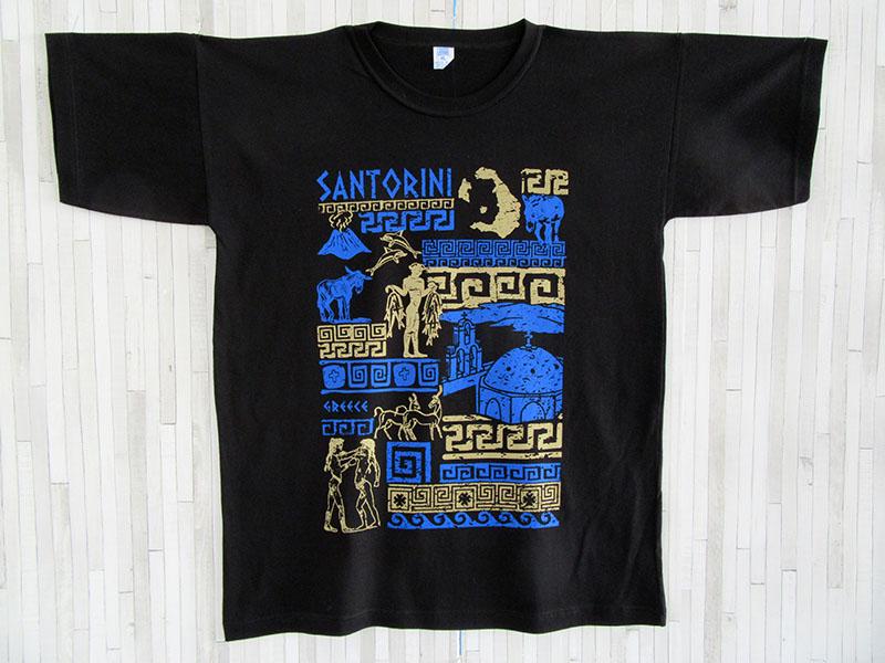 Μπλουζάκι Ενηλίκων - Σαντορίνη
