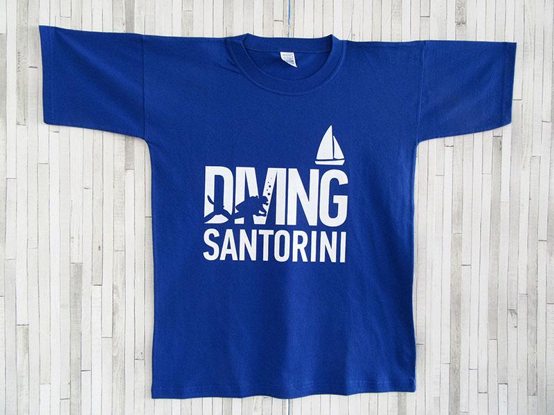 Μπλουζάκι Ενηλίκων - Diving Santorini