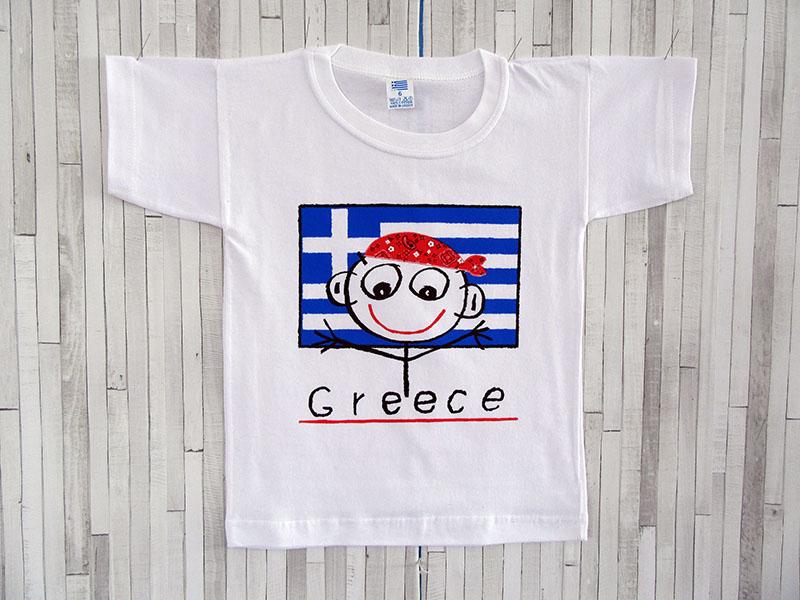 Παιδικό μπλουζάκι - Ελλάδα Φατσούλα