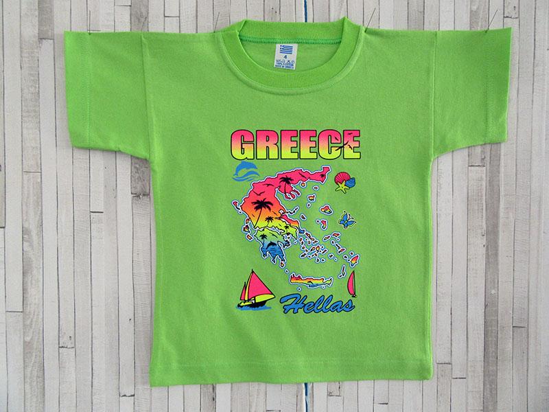 Παιδικό μπλουζάκι - Ελλάδα Χάρτης