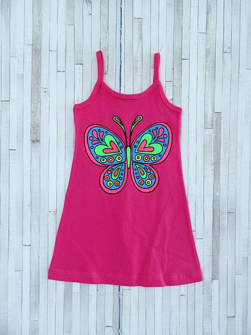 Παιδικό φορεματάκι ράντα - Πεταλούδα