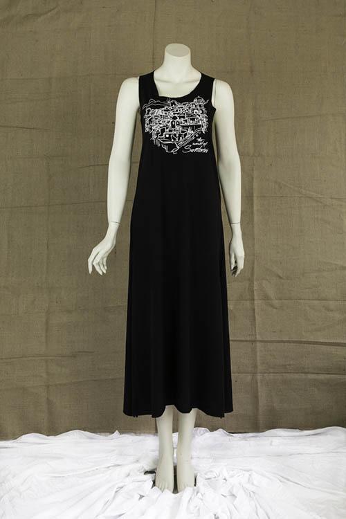 Φόρεμα Σαντορίνη μαύρο