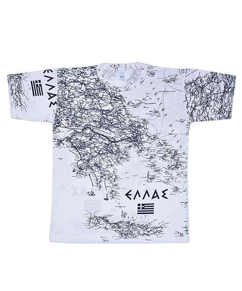 Τουριστική μπλούζα χάρτης Ελλάδος