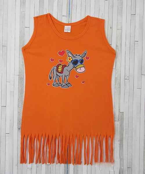 παιδικό πορτοκαλί φόρεμα