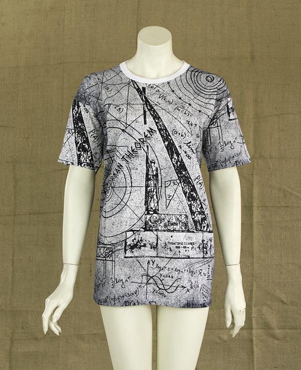 t-shirt πυθαγόρειο θεώρημα