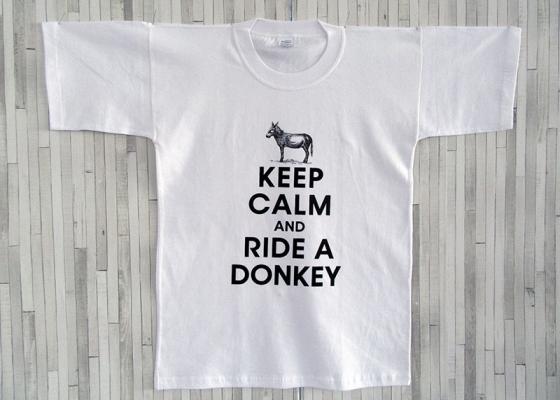 Μπλουζάκι Ενηλίκων - Keep Calm and Ride a Donkey
