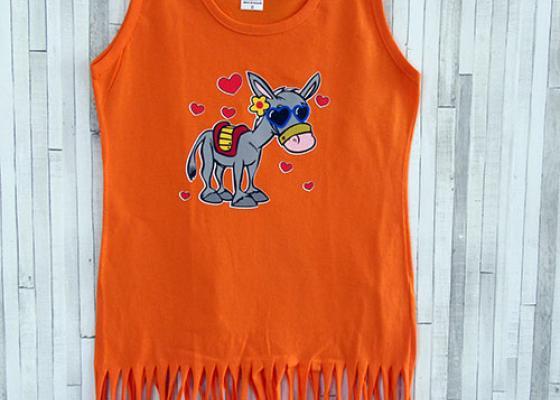 Παιδικό φορεματάκι κρόσι - Γαϊδουράκι καρδιές