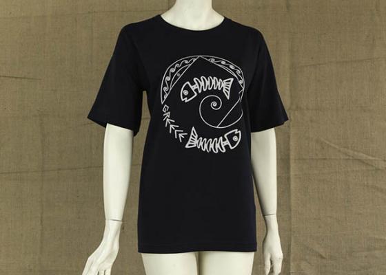 Γυναικεία μακρυά μπλούζα με στάμπα ψαροκόκκαλο