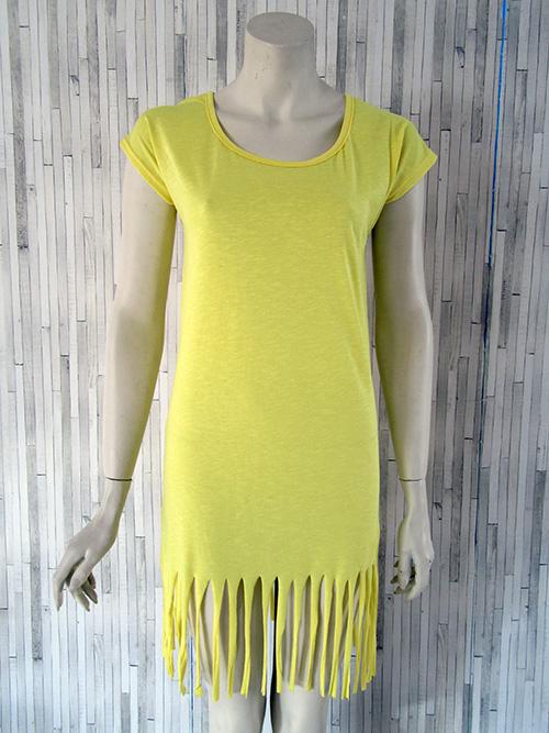 Κρόσσια - μακρύ φόρεμα κίτρινο